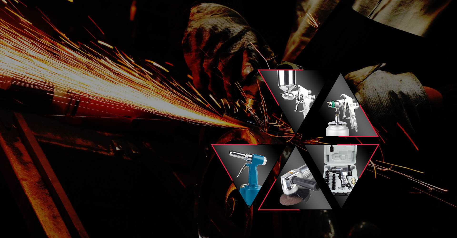 Specializing in the production of various Air tools, spray guns